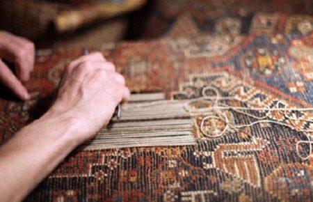 خدمات رفوی فرش درقالیشویی مشهد