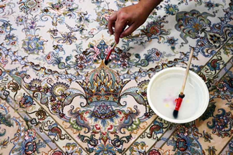 رنگ برداری تخصصی فرشهای دستباف
