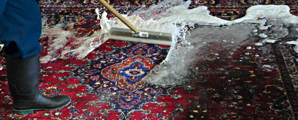 شستشوی تخصصی فرشهای دستباف